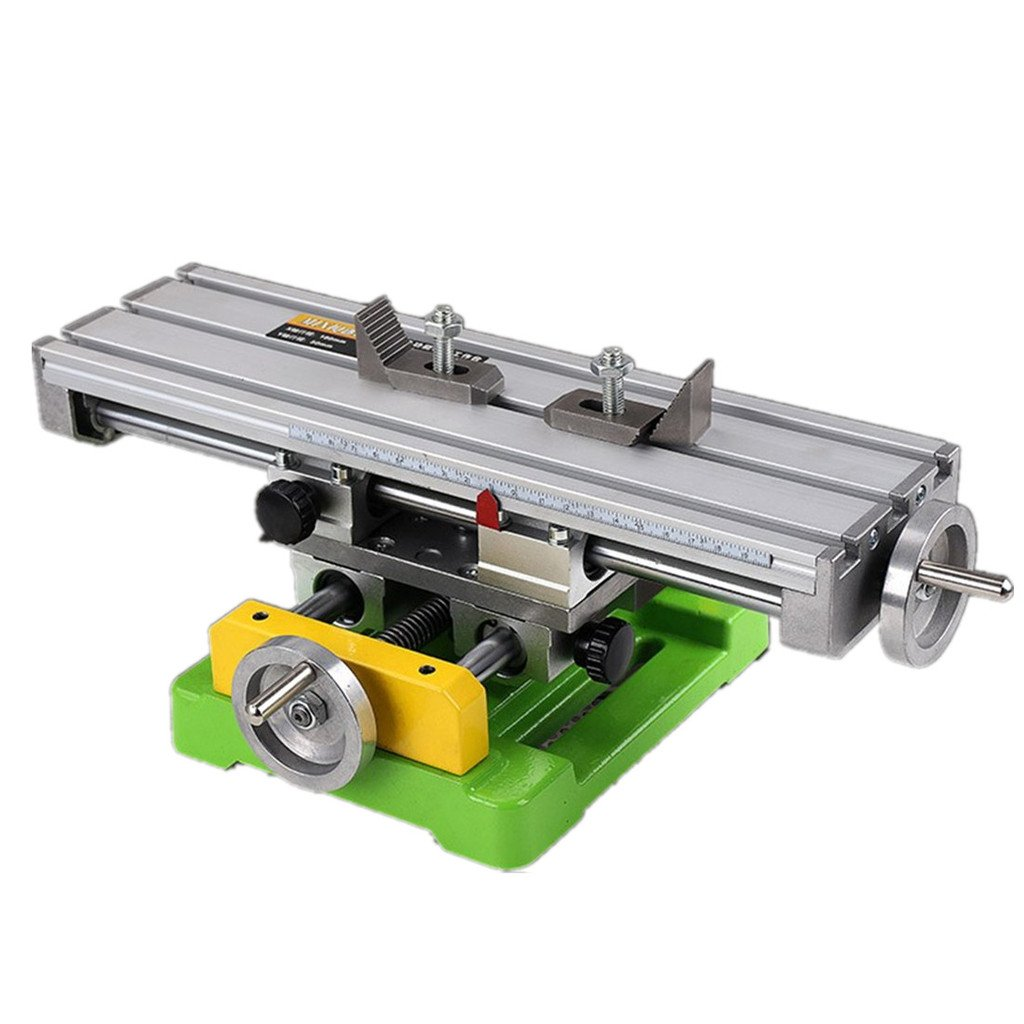 Milling Working Table 350×100MM Bench Vise Multifunction Worktable Milling Machine Compound Drilling Slide Table For DIY Bench Drill