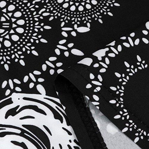 elegante Sin mangas impresi Adeshop Mujeres puro Falda Color Vestido de Verano Gasa pn5w1q0