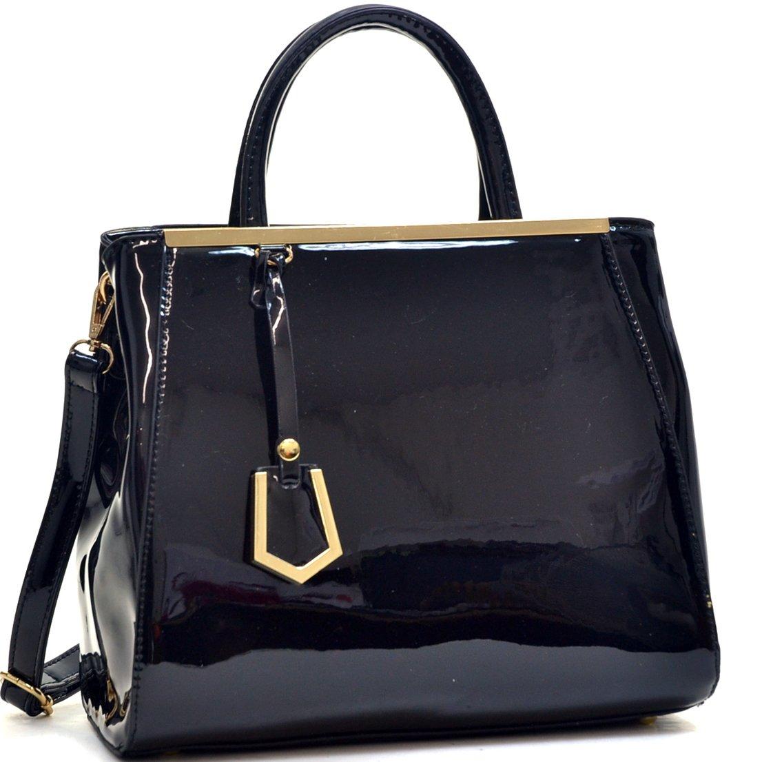 Vintage Handbags, Purses, Bags *New* Womens Fashion Handbag Ostrich Structured Top Handle Satchel Bag Shoulder Bag Tote Purses $34.99 AT vintagedancer.com