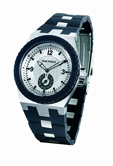 Time Force TF2935M02 - Reloj unisex de cuarzo, correa de caucho color negro: Amazon.es: Relojes