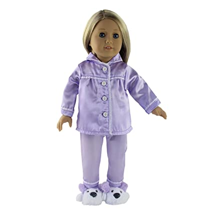 fcbd0210f0 Image Unavailable. Image not available for. Color  Doll Clothes (2 Piece Sleepwear  Pajamas With Shoes Fits For 18 Inch American Girl Dolls