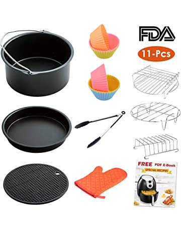 LATTCURE Air Fryer Accessories, 8 Inch for 5.8 qt XL Air Fryer, 11 pieces