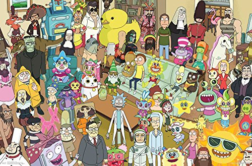 """Trends International Rick and Morty Group Prints, 22.375"""" x 34"""""""