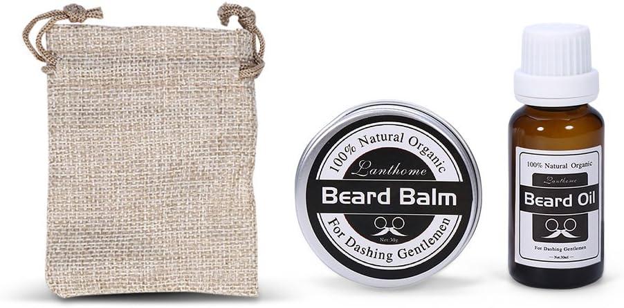 Aceite para barba, Acondicionador 100% natural para bálsamo y ...