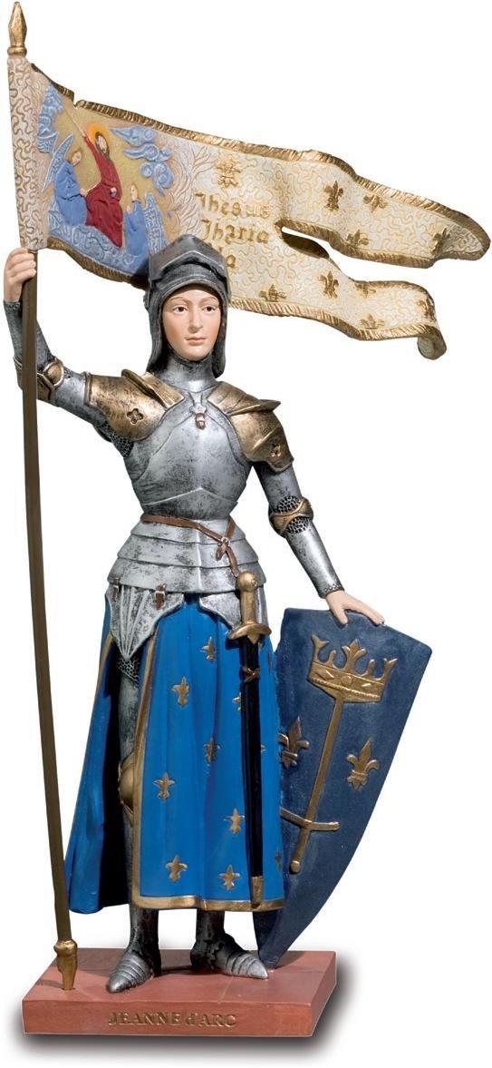 Katerina Prestige–Statua Jeanne D' Arc con Oriflamme, re0059