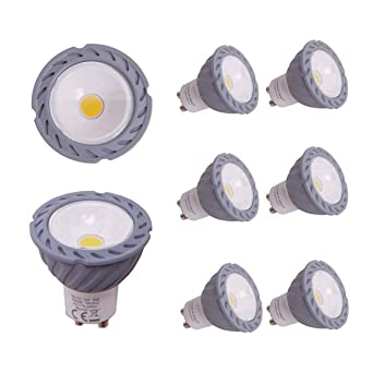 Greenfrog Pack de 6 Bombillas LED GU10, 6W COB LED Equivalente a 50W L¨