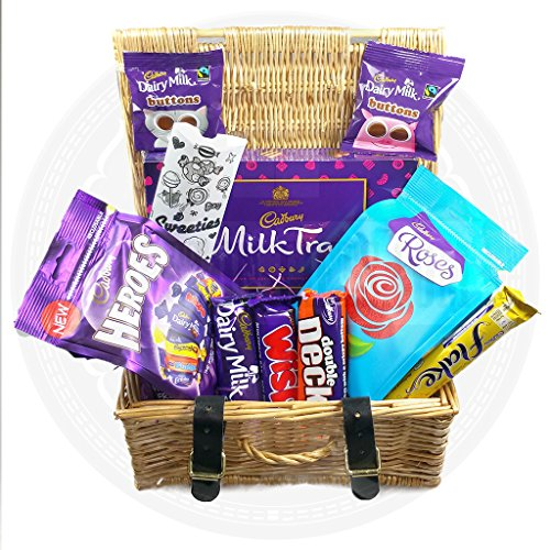 The Mini Cadburys English Wicker Hamper - By Moreton Gifts, Perfect Gift. (Gifts Hampers)