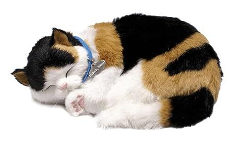 Perfect Petzzz Gato Calico de peluche, que respira