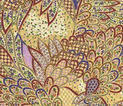 Madame Butterfly Moda metallic fabric ()