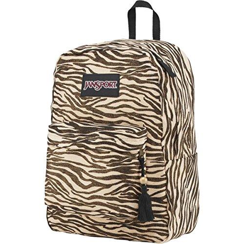 JanSport Super FX Backpack – Gold Metallic Zebra 16.7 H x 13 W x 8.5 D