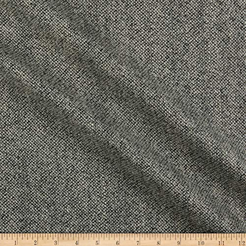 (Tuva Textiles Wool Blend Coating Tweed Black/White, Fabric by the Yard)