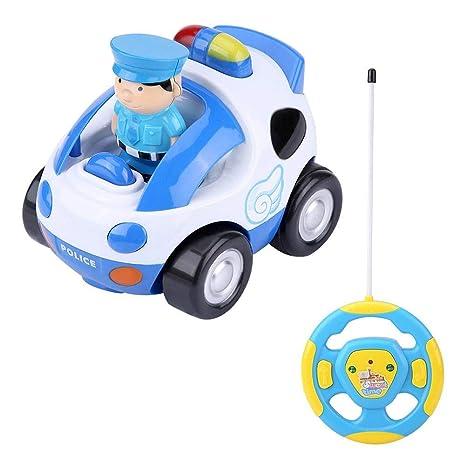 Para Con Coche Dilwe Rc Y Música Bebés blanco Remoto Control Niños De Luces JugueteInalámbrico Toy Cartoon CWrdxoeB