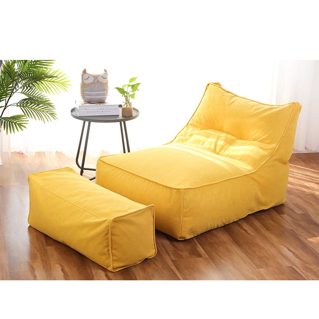 Amazon.com: Puf Lazy Couch Tatami simple dormitorio sofá de ...