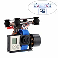 Crazepony-UK 2-Axis Brushless Gimbal Camera with Motor Controller for DJI Phantom 1 2 3 GoPro Hero3+ Hero3 FPV