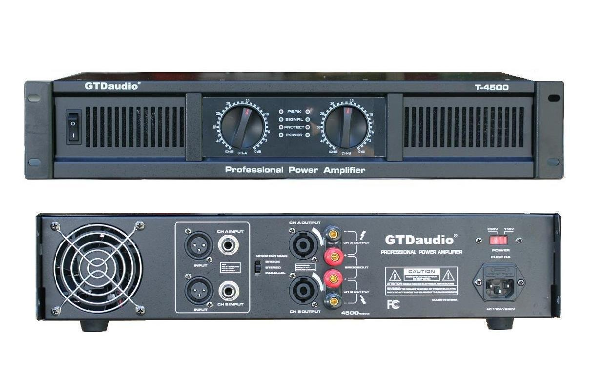gtd audio 2 channel 4500 watts professional power amplifier  gtd audio 2 channel 4500 watts