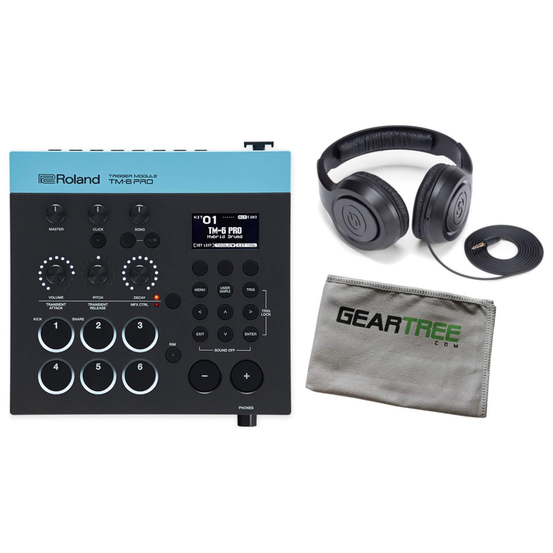 Roland TM-6 PRO Trigger Acoustic Drum Module Bundle w/Headphones