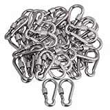 Yibuy 50 Pieces Quick Link Chain Rigging Connector Stainless Steel M5 Thread Dia