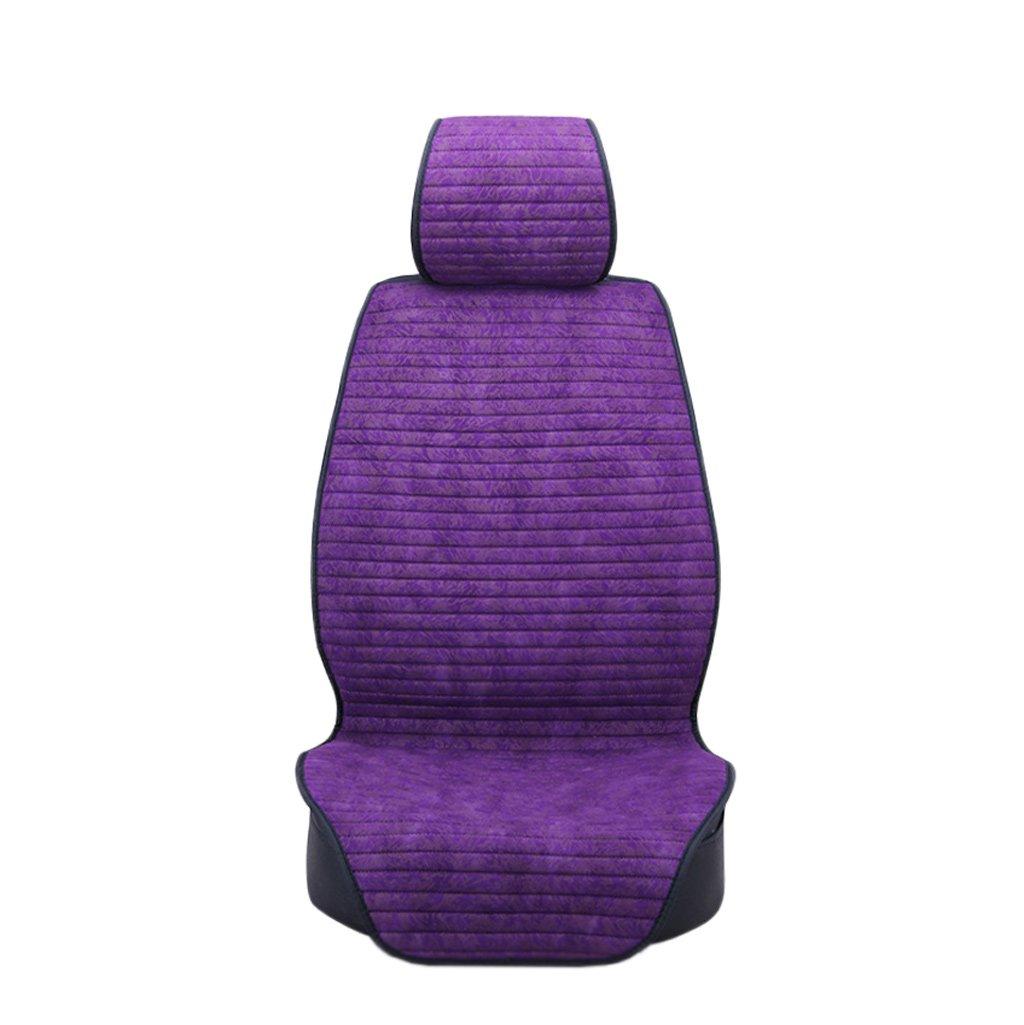カークッションカーマットフォーシーズンユニバーサルアンチスキッドアイスシルク (色 : Purple) B07FNG1VYR Purple Purple