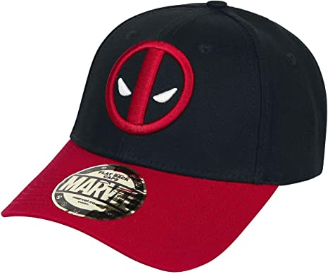Deadpool Logo Gorra de beisbol negro/rojo: Amazon.es: Deportes y ...