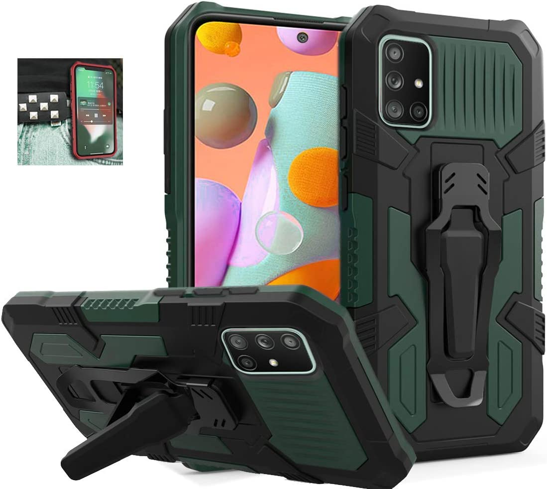 Samsung Galaxy A71 5G Case, [NOT fit A71 5G UW] Military Grade Protective Phone Case with Belt Clip
