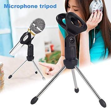 Mikrofonstativ Unterhaltungselektronik Mikrofon Mic Stand Stativ Halterung Tragbaren Zink-legierung Desktop Tisch Einstellbare Halter