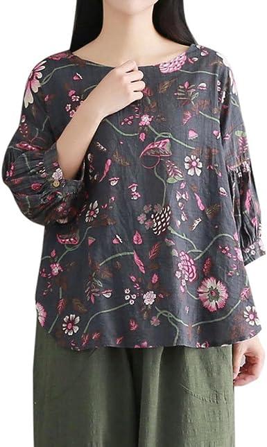 FAMILIZO Camisetas Mujer Manga Corta, Camisetas Mujer Tallas Grandes Camisetas Mujer Verano Blusa Mujer Sport Tops Mujer Verano Casual Blusa T Shirt Blusas Flores Mujer Camisas: Amazon.es: Ropa y accesorios