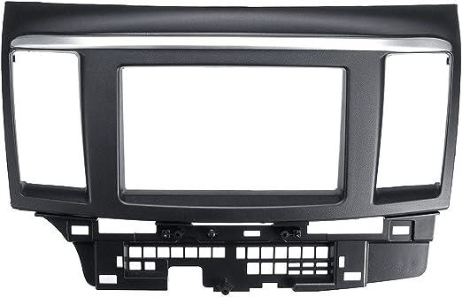XIANGSHAN 2 DIN Car Stereo Fascia Panel Placa Audio Radio CD DVD GPS Dash Marco de Montaje de medición Instrumentos de reemplazo for Mitsubishi Lancer Fortis: Amazon.es: Hogar