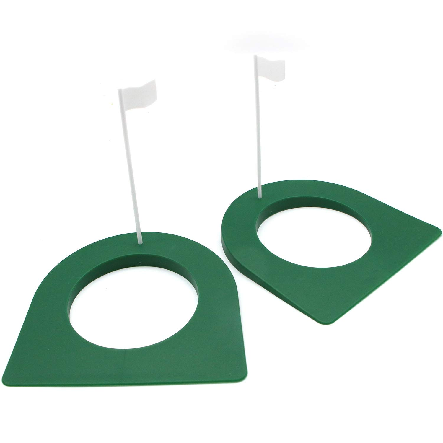 JETEHO 2 Pack Golf Practice Putting Cup Indoor Outdoor Gold Putter Training Aids Regulation Cup by JETEHO
