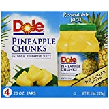 Dole Pineapple Chunks in 100% Pineapple Juice - 20 oz. - 4 ct.
