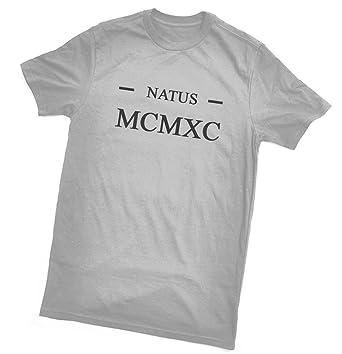 Amazon.com: Natus MCMXC T-Shirt (Born 1990 de Latin/números ...