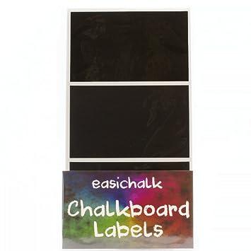 Etiquetas adhesivas rectangulares grandes de pizarra, 12 ...