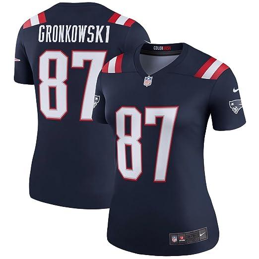 6c5d43bac Nike Women s New England Patriots Rob Gronkowski  87 Color Rush Legend  Football Jersey Navy