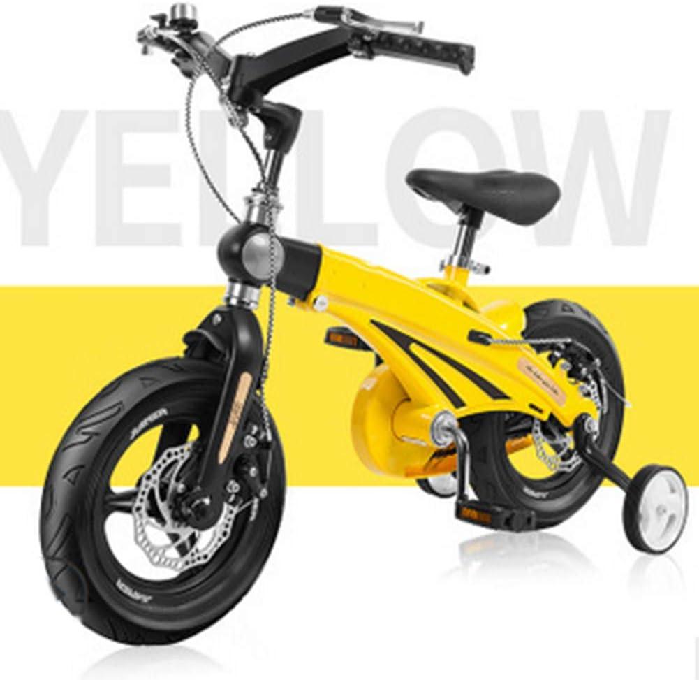 MQYZS Bicicleta Infantil para niños y niñas a Partir de 3 años | Bici 12-14-16 Pulgadas,con Frenos on sillín y manubrio Regulable