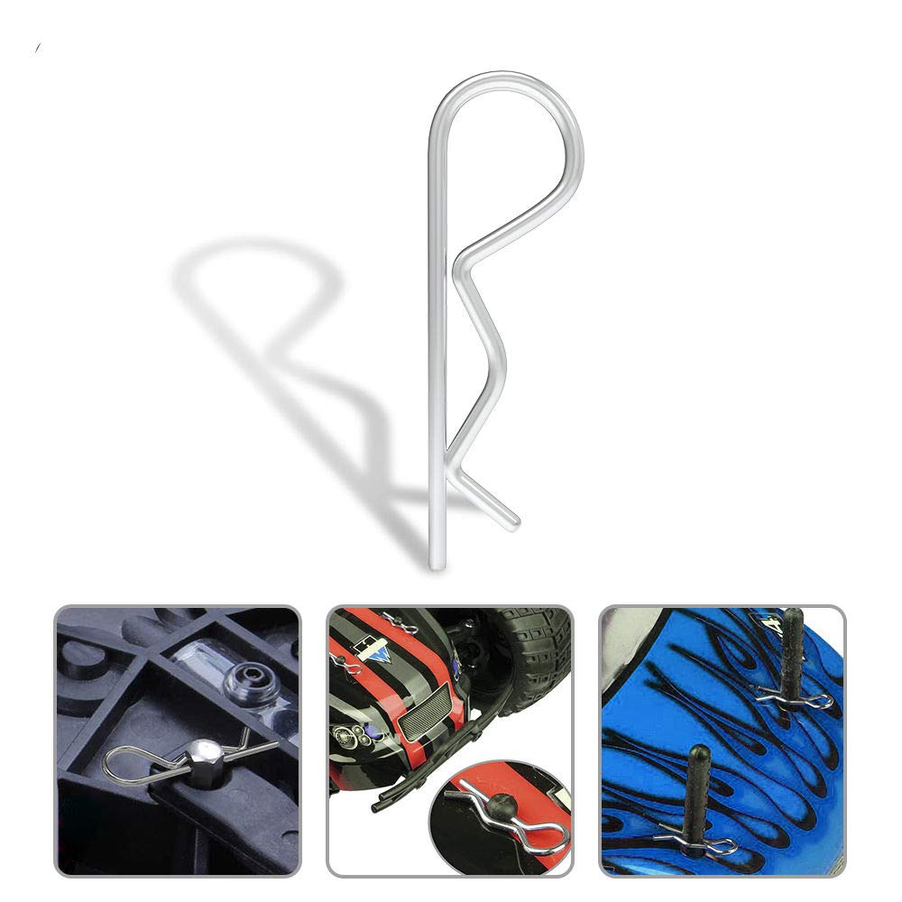 100-Pack Universal RC Body Clips Pins for Traxxas and All 1//10 1//12 Scale Redcat HPI Himoto HSP Exceed RC Car Parts Truck Buggy Shell Replacement
