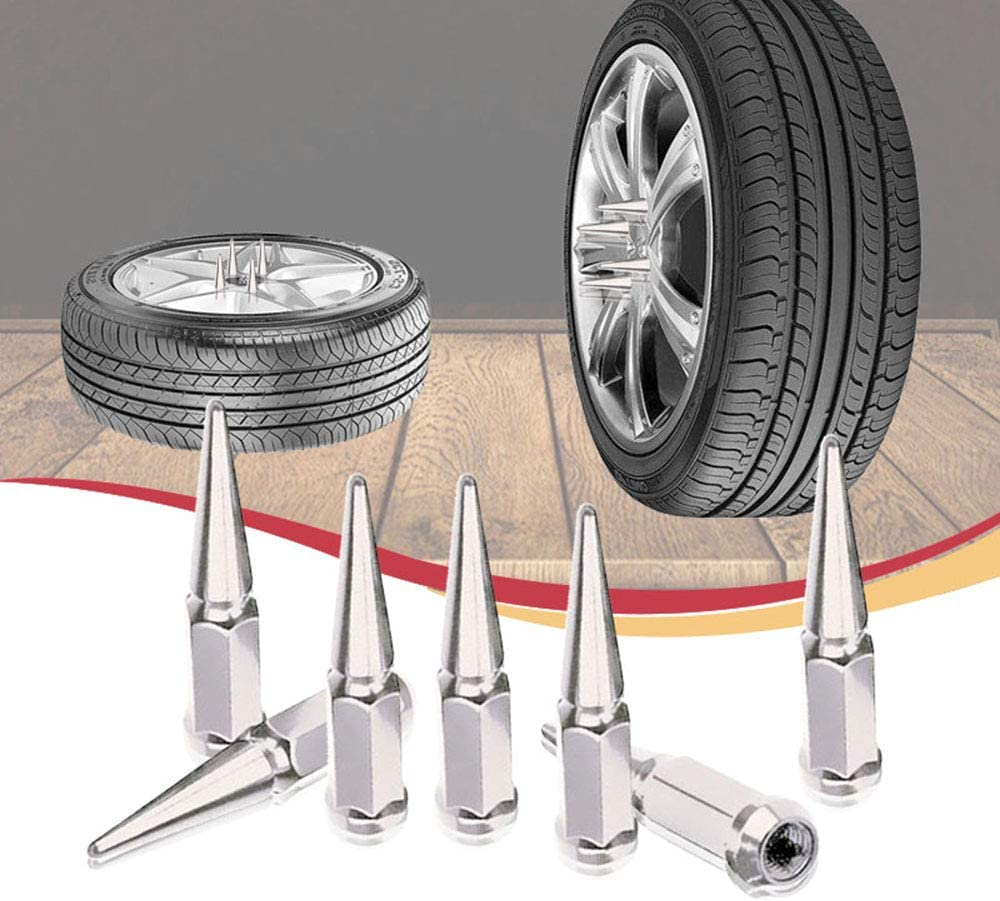 Spike Lug Nuts 20 Pieces with Socket Key 12mmx1.25 Red