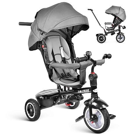 1801546a26 besrey 7 in 1 Triciclo Passeggino per Bambini Triciclo con Maniglione Triciclo  a Spinta Bicicletta con