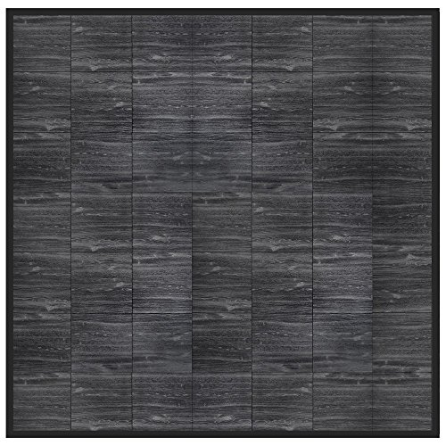 "Swisstrax 10' x 10' Portable ""Hardwood"" Floor (¾"" thick Interlocking Floor Tiles w/ Edges & Corners) - Dance Floors, Office Areas, Event Floors & more! (Black Oak) by Swisstrax"