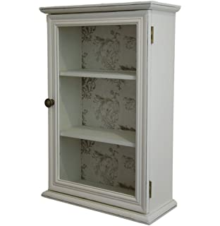 Admirable French Shabby Chic Grey Painted Wooden Wall Cabinet Cupboard Inspirational Interior Design Netriciaus