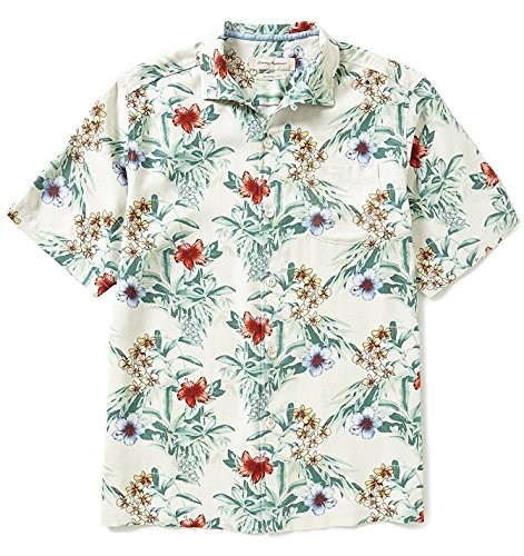 Tommy Bahama Mens Breakaway Blooms Silk Camp Shirt (Large, Continental)