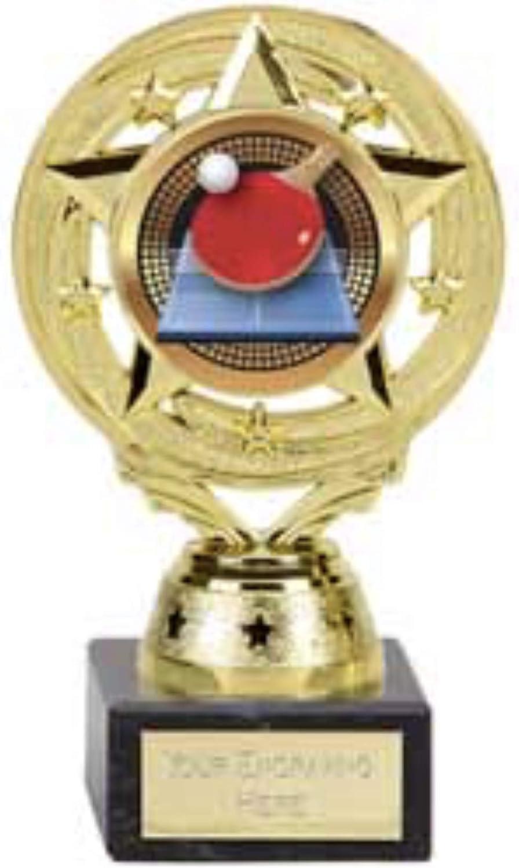 Emblems-Gifts Project X - Soporte para Tenis de Mesa, Trofeo, plástico sobre una Base de mármol (14 cm)