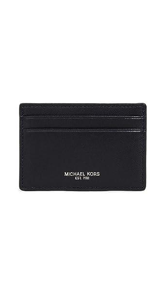 9dd8af37c59879 Michael Kors Harrison black Textured Money Clip Card Case Wallet:  Amazon.ca: Clothing & Accessories