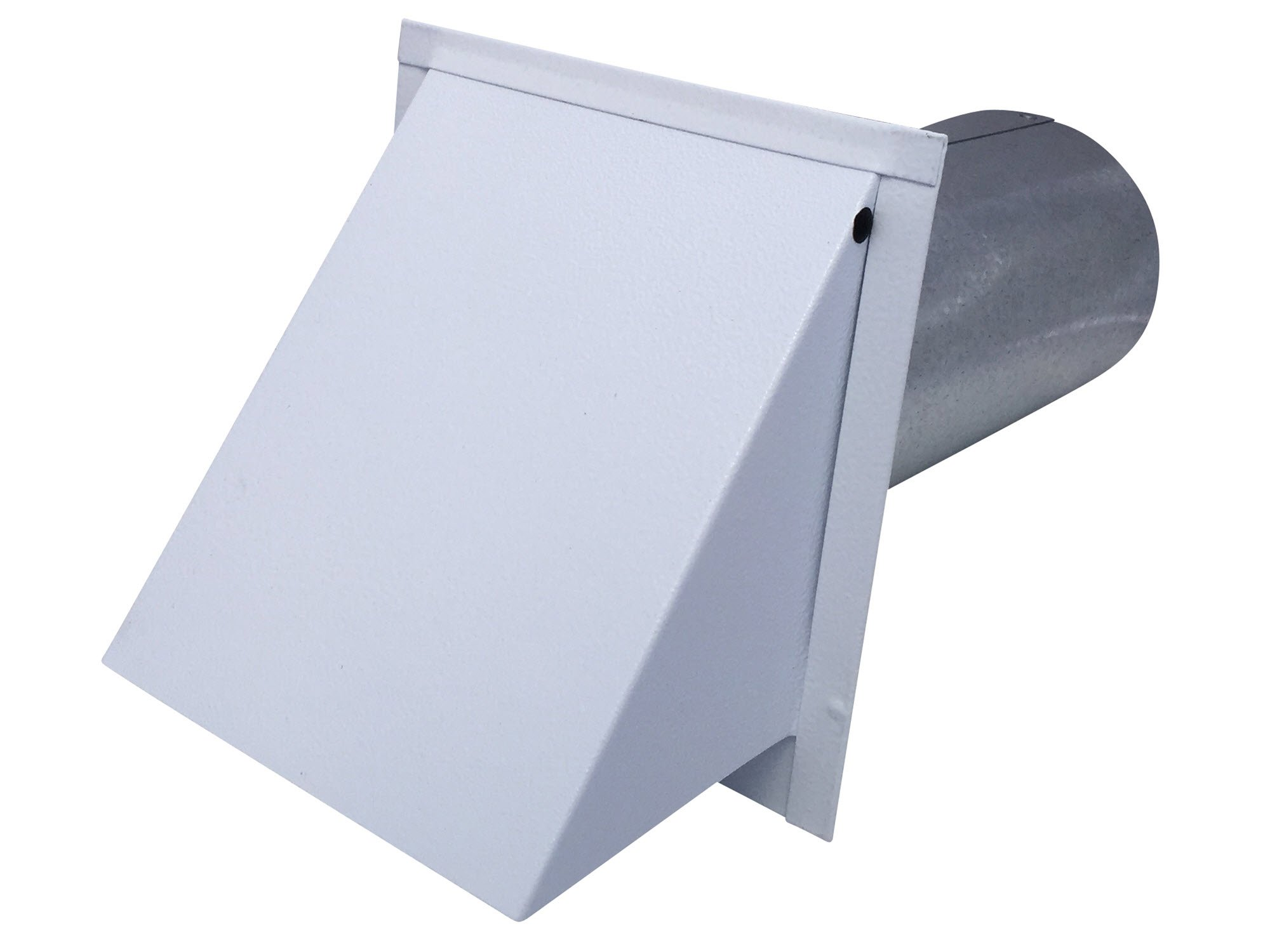 4 Inch Wall Vent Painted White Damper & Screen (4 Inch diameter) - Vent Works