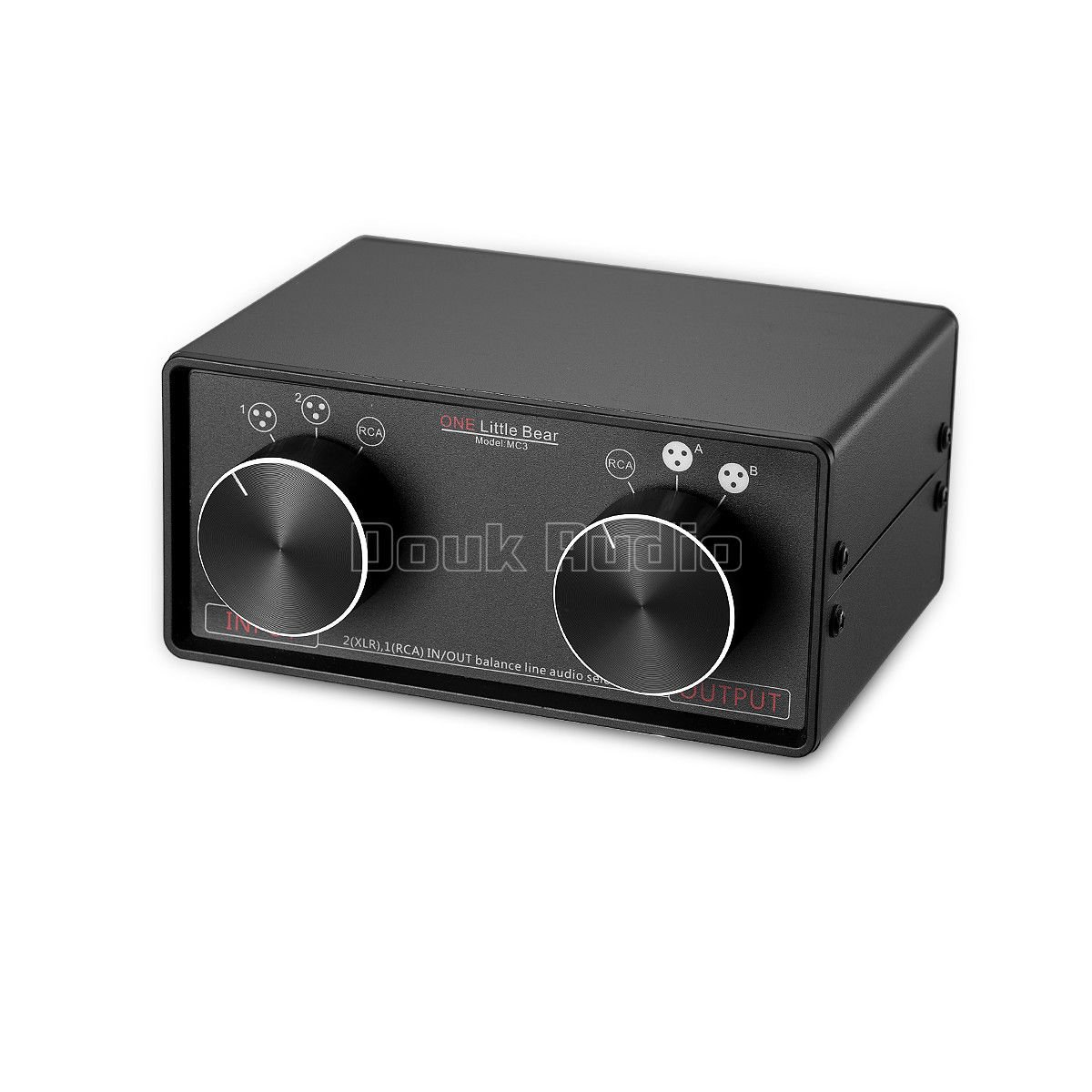 Nobsound Little Bear MC3 3-IN-3-OUT XLR Balanced/RCA Stereo Converter Audio Selector Splitter Box Passive Preamp XLR to RCA Audio Switch (XLR & RCA)