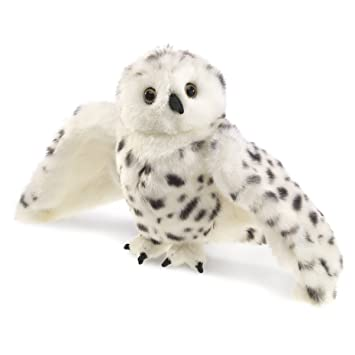 Amazon Com Folkmanis Snowy Owl Hand Puppet Toys Games
