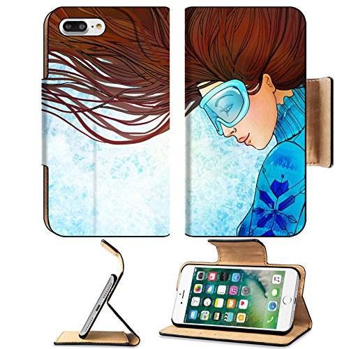 Liili Premium Apple iPhone 7 Plus Flip Pu Leather Wallet Case iPhone 7 Plus 24532001 Pretty young woman in sweater and sport - Brand Goggles Expensive