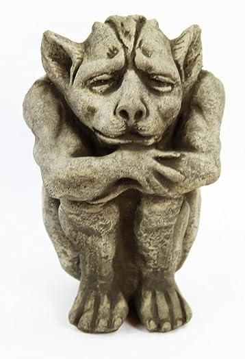 Fleur de Lis Garden Ornaments LLC Igor Cement Gargoyle Concrete Gothic European Statue French Cast Stone Religious Sculpture Figurine