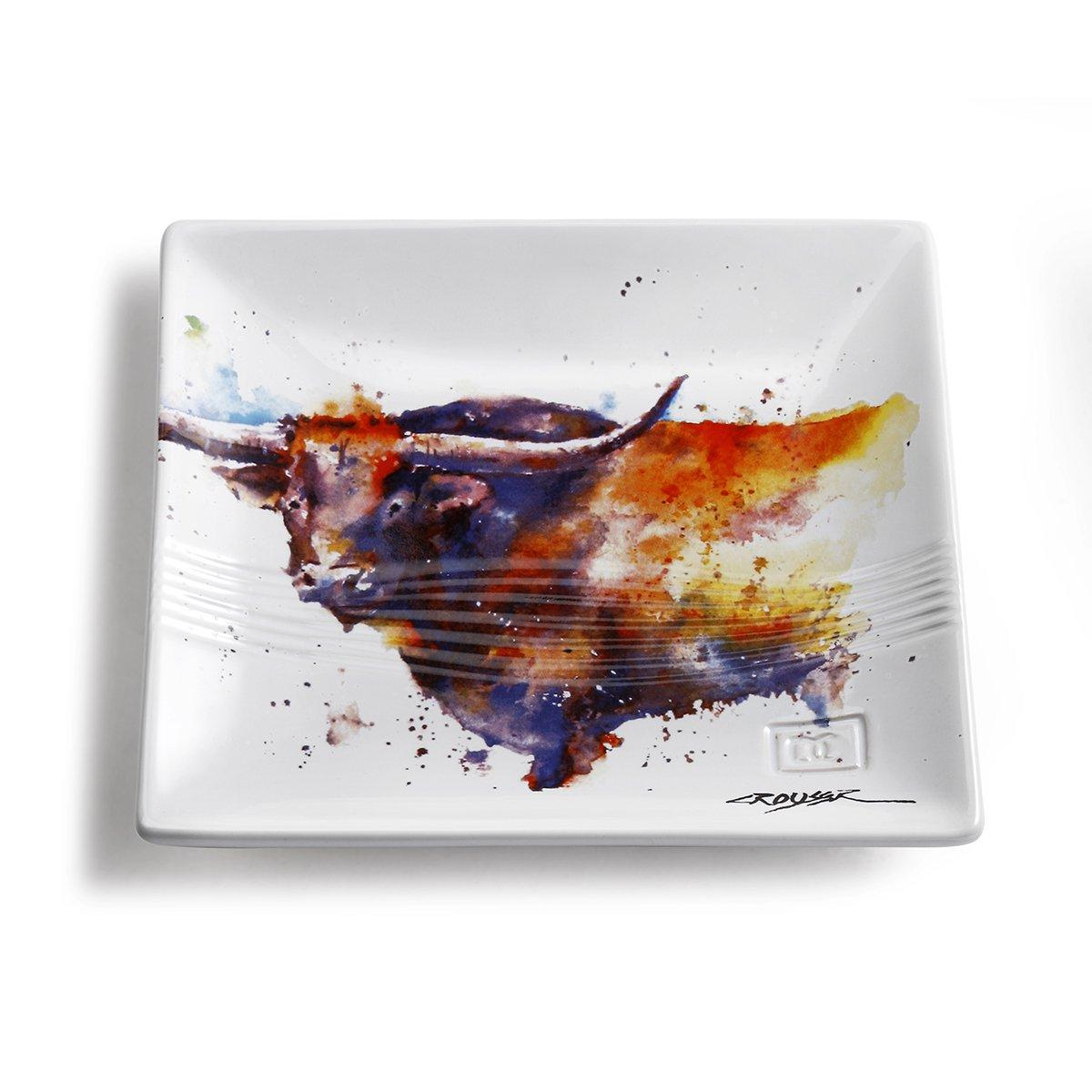 Demdaco 3005050844 Big Sky Carvers Longhorn Snack Plate, Multicolored