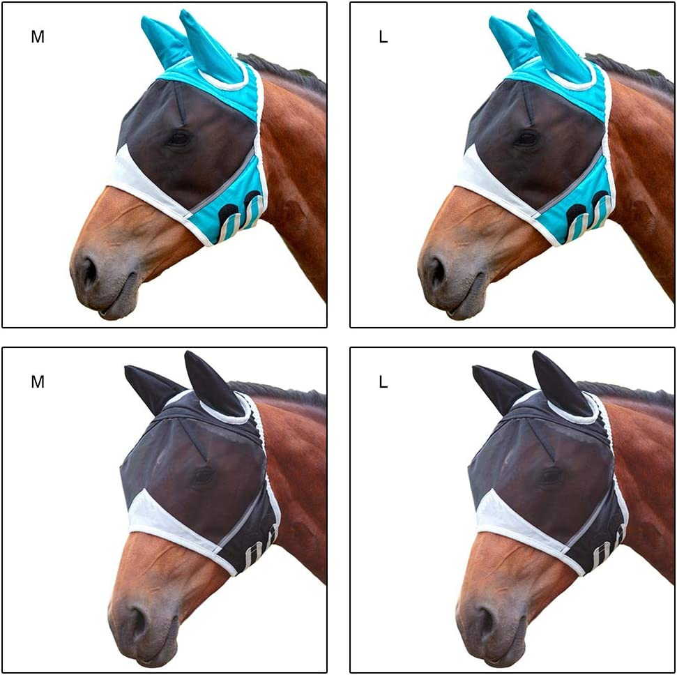 m/áscara anti del caballo del mosquito m/áscara respirable del caballo con la m/áscara de la oreja contra los caballos del mosquito M/áscara de la mosca del caballo M/áscara de la mosca del caballo