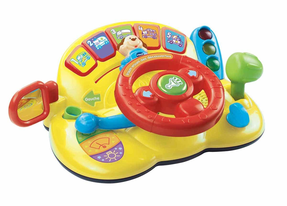 VTech - Centro de actividades con volante para bebés (166605) (versión en francés): Amazon.es: Juguetes y juegos