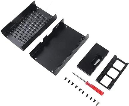 para Raspberry Pi 2 3 Modelo B Plus Aluminio Plata Verde Negro Caja Caja de Metal Compatible con RPI 2 3 Caja: Amazon.es: Electrónica